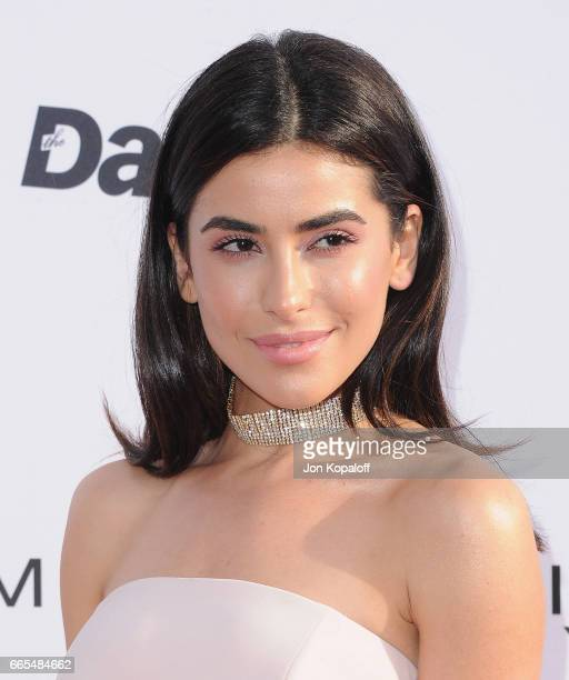 Fashion blogger Sazan arrives at the Daily Front Row's 3rd Annual Fashion Los Angeles Awards at the Sunset Tower Hotel on April 2 2017 in West...