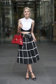Fashion blogger Sofie Valkiers wears a Cos top F Edigio skirt Zara shoes and a Delvaux bag day 4 of Paris Haute Couture Fashion Week Autumn/Winter...