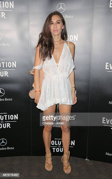 Fashion blogger/photographer Rumi Neely attends the MercedesBenz 2015 Evolution Tour on August 4 2015 in Los Angeles California