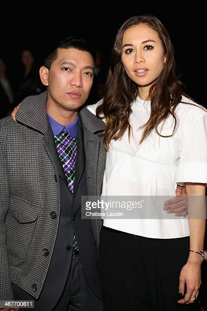 Fashion Bloggers Bryanboy and Rumi Neely attend the Helmut Lang fashion show during MercedesBenz Fashion Week Fall 2014 on February 7 2014 in New...