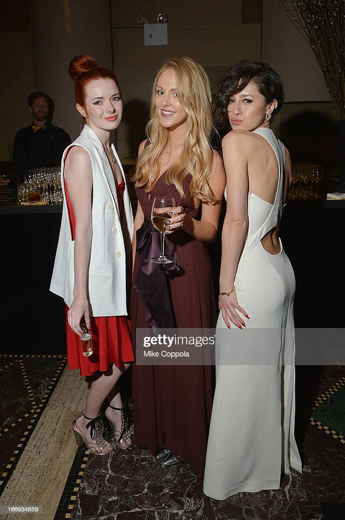 Fashion bloggers Jane Aldridge, Shea Marie, and Karla Deras attend the 'As Good As Gold' MAGNUM Gold?! Film Premiere on April 18, 2013 in New York City.
