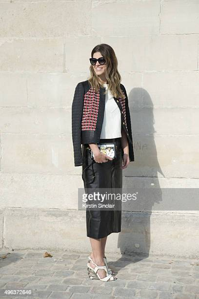 Fashion Buyer Carol Cassou on day 5 during Paris Fashion Week Spring/Summer 2016/17 on October 3 2015 in Paris France