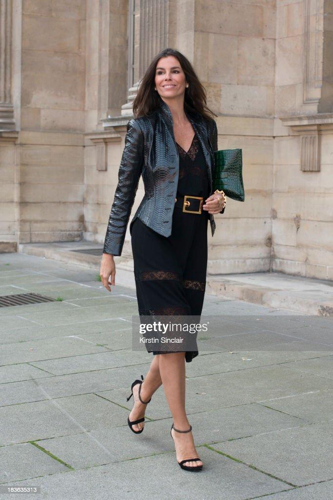 Fashion buyer Christina Pintanguy on day 9 of Paris Fashion Week Spring/Summer 2014, Paris October 02, 2013 in Paris, France.