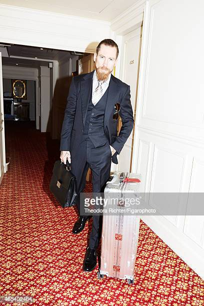 Fashion buyer for Mytheresacom Justin O'Shea is photographed for Madame Figaro on September 24 2014 in Paris France CREDIT MUST READ Theodora...