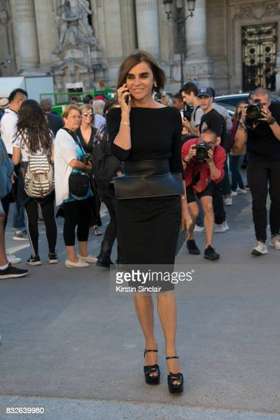 Fashion consultant Carine Roitfeld day 2 of Paris Haute Couture Fashion Week Autumn/Winter 2017 on July 3 2017 in Paris France