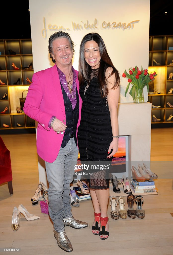 Fashion Consultant Stacy London and Designer JeanMichel Cazabat attend the JeanMichel Cazabat spring shopping night on April 10 2012 in New York City