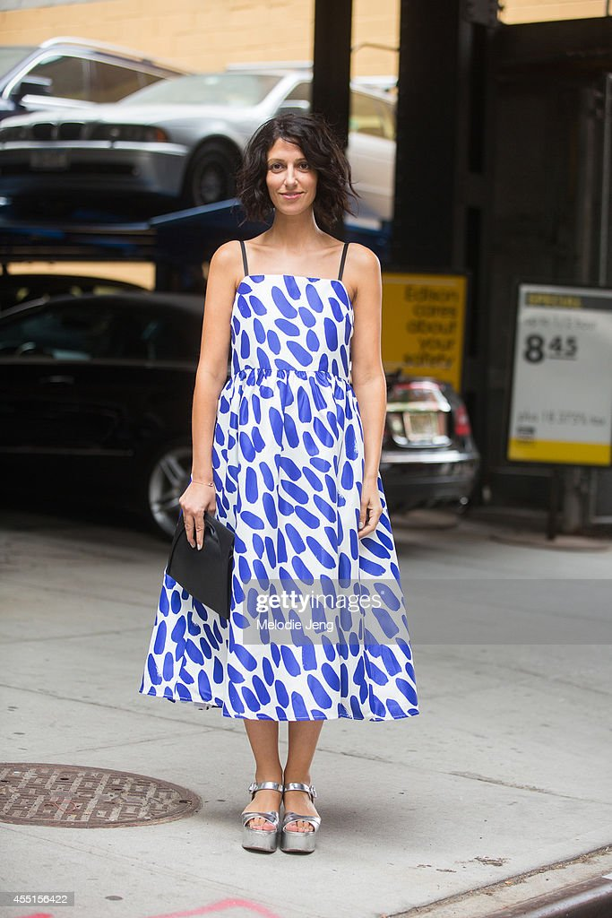 Fashion Consultant Yasmin Sewell after Rodarte on Day 6 of New York Fashion Week Spring/Summer 2015 on September 9 2014 in New York City