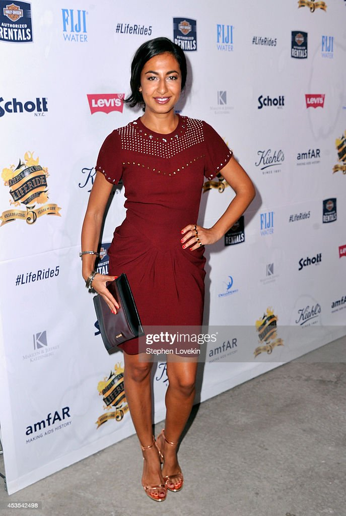 Fashion Contributor/Writer at New York Post, MarieClaire.com, L'Officiel Nausheen Shah attends Kiehl's LifeRide for amfAR co-hosted by FIJI Water on August 12, 2014 in New York City.