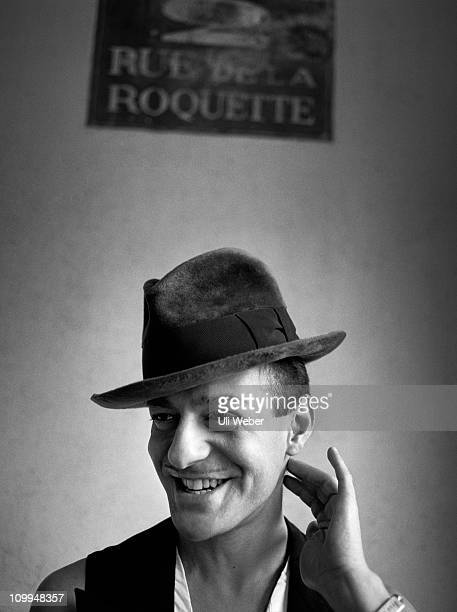 Fashion desginer John Galliano poses for a portrait shoot in London on May 23 1995