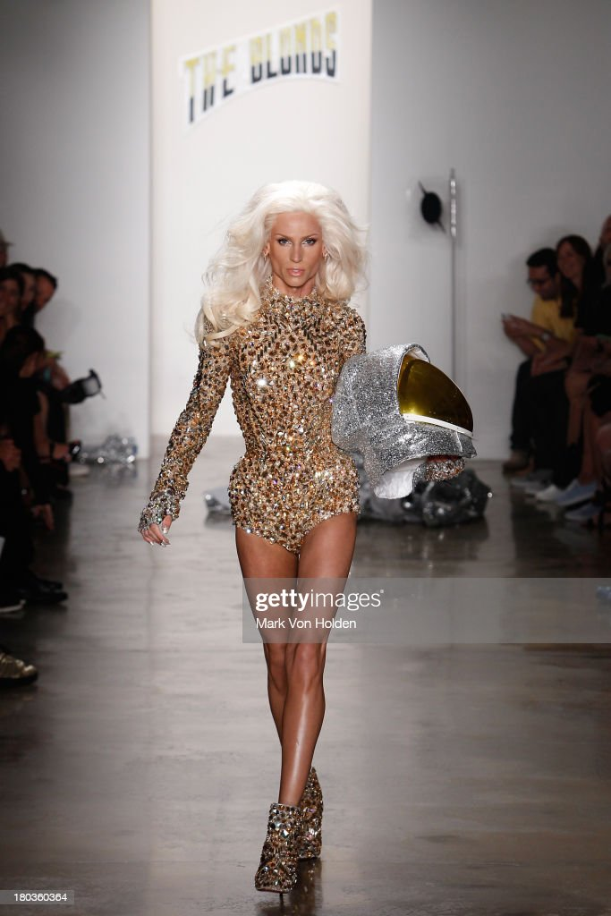 Fashion desginer Phillipe Blond walks the runway in The Blonds fashion show during MADE Fashion Week Spring 2014 at Milk Studios on September 11, 2013 in New York City.