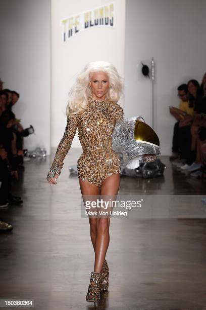 Fashion desginer Phillipe Blond walks the runway in The Blonds fashion show during MADE Fashion Week Spring 2014 at Milk Studios on September 11 2013...