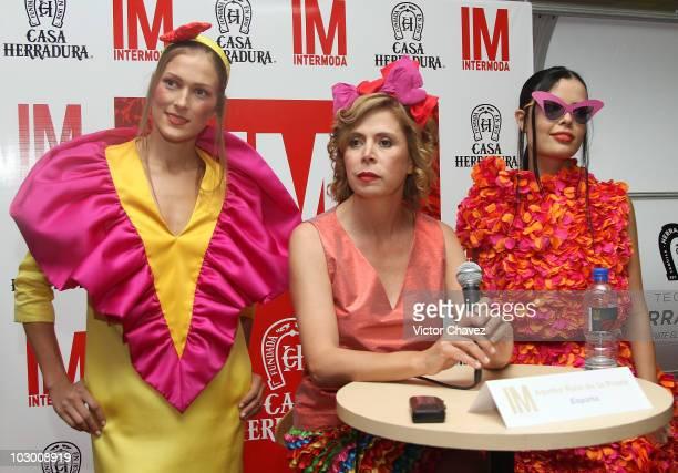 Fashion designer Agatha Ruiz De La Prada attends a press conference during Intermoda 2010 at Expo Guadalajara on July 20 2010 in Guadalajara Mexico