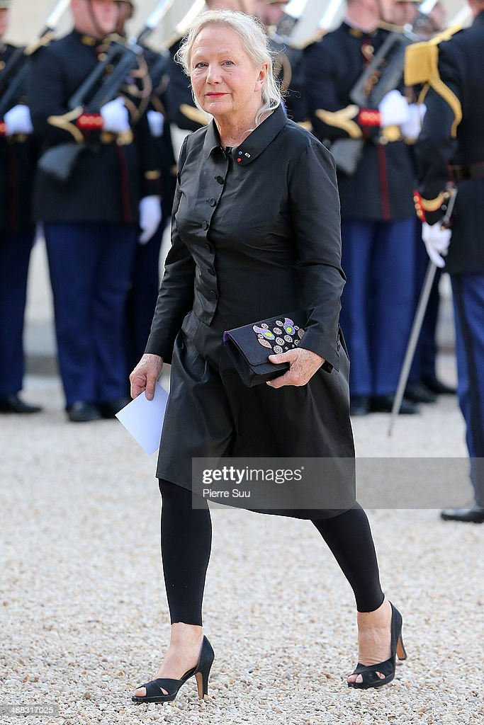 Fashion designer Agnes B attends the state Dinner At Elysee Palace In Honor Of Japanse Prime Minister Shinzo Abe on May 5, 2014 in Paris, France.