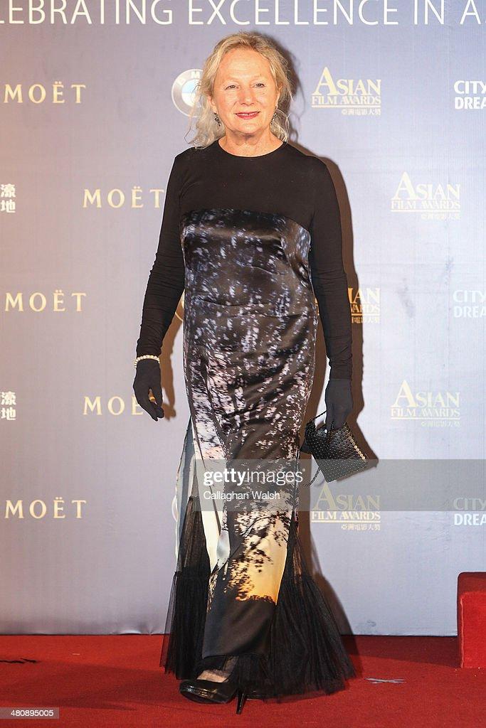 Fashion designer Agnes B of France attends the Asia Film Awards 2014 at the Grand Hyatt Hotel on March 27, 2014 in Macau, Macau.