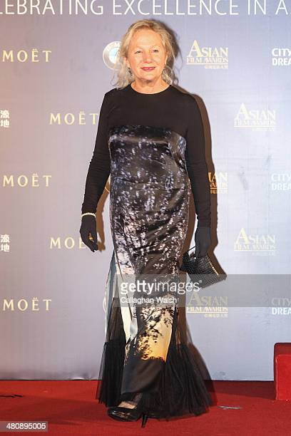 Fashion designer Agnes B of France attends the Asia Film Awards 2014 at the Grand Hyatt Hotel on March 27 2014 in Macau Macau