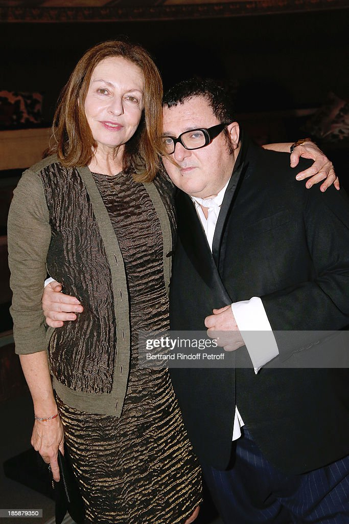 Fashion Designer Alber Elbaz (R) and Auctioneer Daniella Luxembourg - Designer Alber Elbaz pays tribute to Cesar Baldaccini by an Evening Pic-Nic at the Ecole Nationale Superieure des Beaux Arts de Paris on October 25, 2013 in Paris, France.