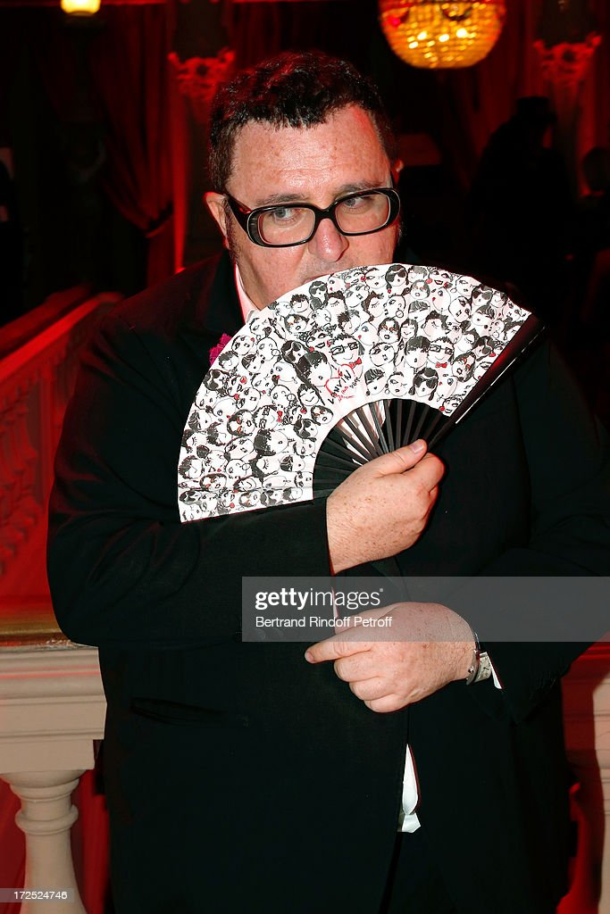 Fashion Designer <a gi-track='captionPersonalityLinkClicked' href=/galleries/search?phrase=Alber+Elbaz&family=editorial&specificpeople=783481 ng-click='$event.stopPropagation()'>Alber Elbaz</a> attends 'Lancome show by <a gi-track='captionPersonalityLinkClicked' href=/galleries/search?phrase=Alber+Elbaz&family=editorial&specificpeople=783481 ng-click='$event.stopPropagation()'>Alber Elbaz</a>' Party at Le Trianon on July 2, 2013 in Paris, France.