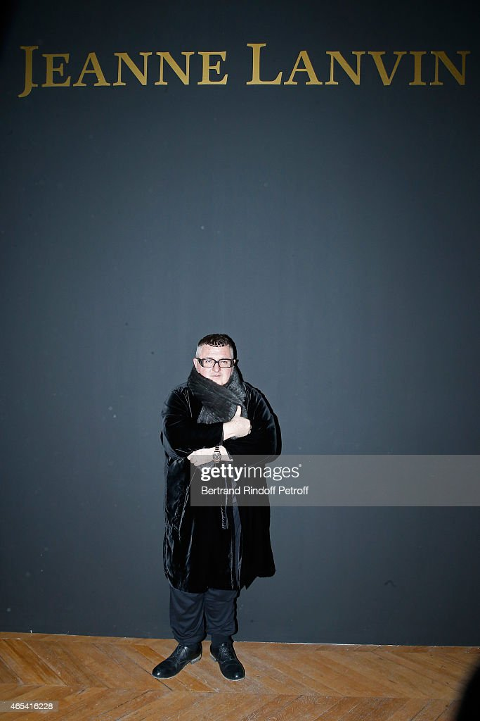 Fashion Designer Alber Elbaz attends the Jeanne Lanvin Retrospective Opening Ceremony at Palais Galliera on March 6 2015 in Paris France