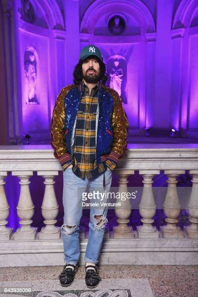 Fashion Designer Alessandro Michele attends the Gucci event during Milan Fashion Week Fall/Winter 2017/18 on February 22 2017 in Milan Italy