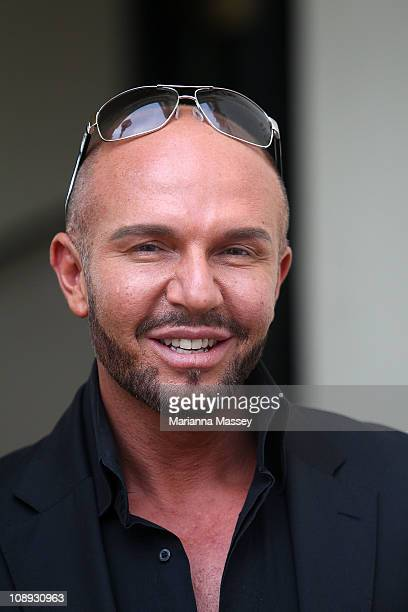 Fashion designer Alex Perry arrives at the 2011 L'Oreal Melbourne Fashion Festival program launch at Government House on February 9 2011 in Melbourne...