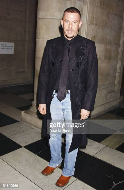 Fashion designer Alexander McQueen attends the British Fashion Awards 2004 at the Victoria and Albert Museum on November 2 2004 in London Run by the...