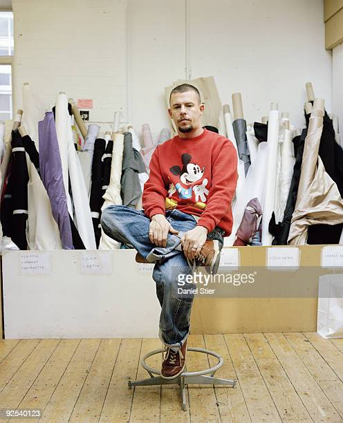 Fashion designer Alexander Mcqueen poses for a portrait shoot in London on June 1 2006