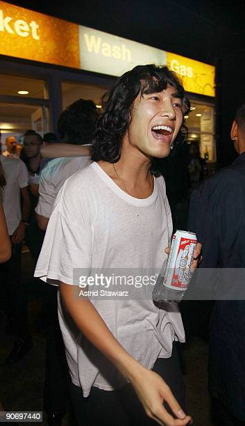 Fashion designer Alexander Wang attends his after party at The Gas Station at Milk on September 12 2009 in New York New York