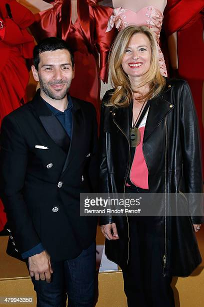 Fashion Designer Alexis Mabille and Journalist Valerie Trierweiler attend the Presentation of the Alexis Mabille Haute Couture Fall/Winter 2015/2016...