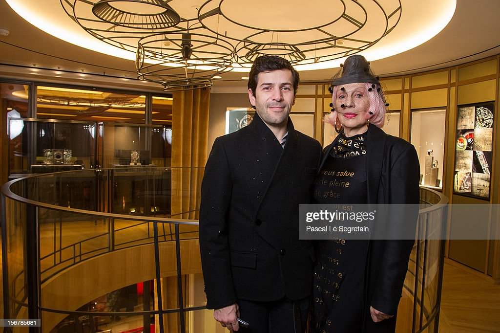 Fashion Designer Alexis Mabille and Marie Beltrami attend Jaeger-LeCoultre Vendome Boutique Opening at Jaeger-LeCoultre Boutique on November 20, 2012 in Paris, France.