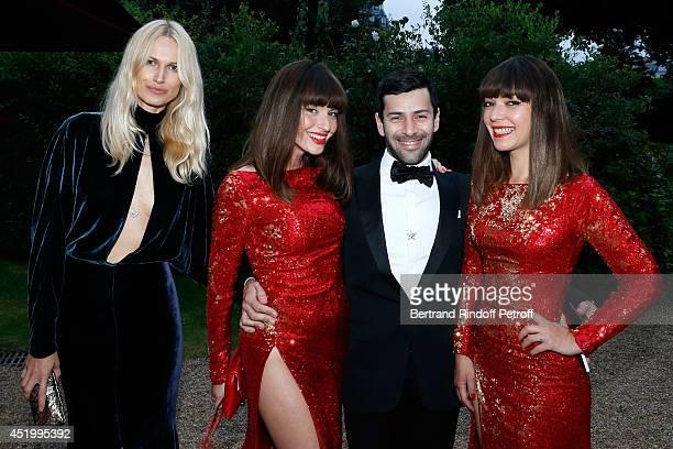 Fashion designer Alexis Mabille les Brigittes Sylvie Hoarau and Aurelie Saada and guest attend the 'Chambre Syndicale de la Haute Couture' Cocktail...