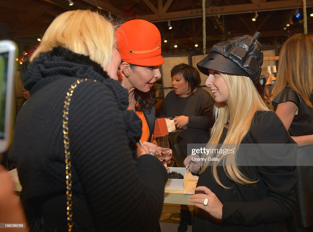 Fashion designer Aliona Kononova (R) and Galina Soboleva attend High Fashion/2013 MOE Aliona Kononova Collection, brought to you by the all-new Lincoln MKZ, hosted by Joel Chen and Lyn Winter at C Project on December 12, 2012 in Los Angeles, California.