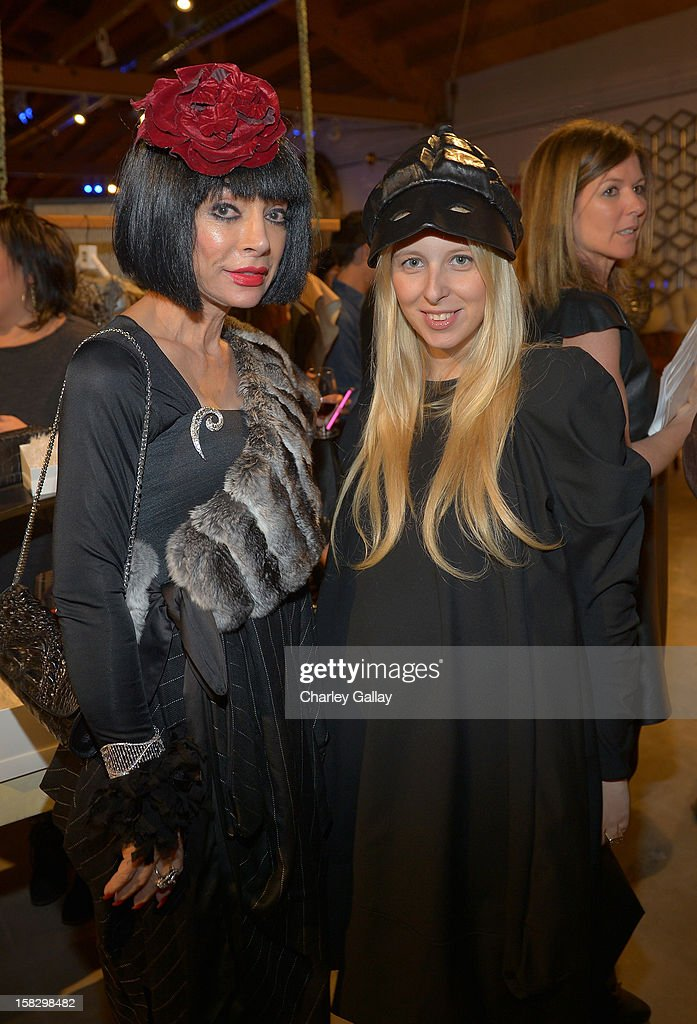 Fashion designer Aliona Kononova (L) and Homeira Goldstein attend High Fashion/2013 MOE Aliona Kononova Collection, brought to you by the all-new Lincoln MKZ, hosted by Joel Chen and Lyn Winter at C Project on December 12, 2012 in Los Angeles, California.