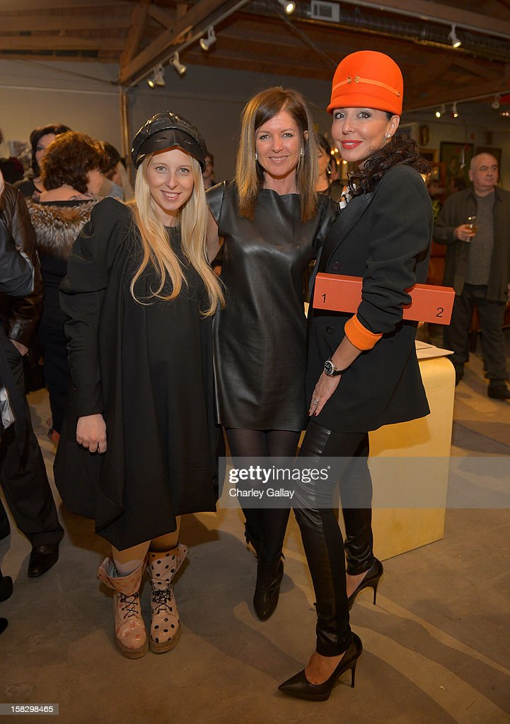 Fashion designer Aliona Kononova, Lyn Winter and <a gi-track='captionPersonalityLinkClicked' href=/galleries/search?phrase=Galina+Sobolev&family=editorial&specificpeople=220285 ng-click='$event.stopPropagation()'>Galina Sobolev</a> attend High Fashion/2013 MOE Aliona Kononova Collection, brought to you by the all-new Lincoln MKZ, hosted by Joel Chen and Lyn Winter at C Project on December 12, 2012 in Los Angeles, California.