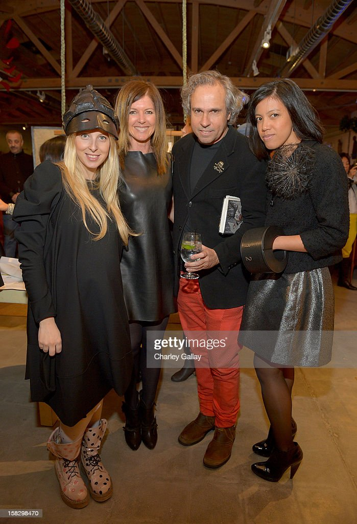 Fashion designer Aliona Kononova, Lyn Winter, artist Gary Baseman and Denise Gray attend High Fashion/2013 MOE Aliona Kononova Collection, brought to you by the all-new Lincoln MKZ, hosted by Joel Chen and Lyn Winter at C Project on December 12, 2012 in Los Angeles, California.