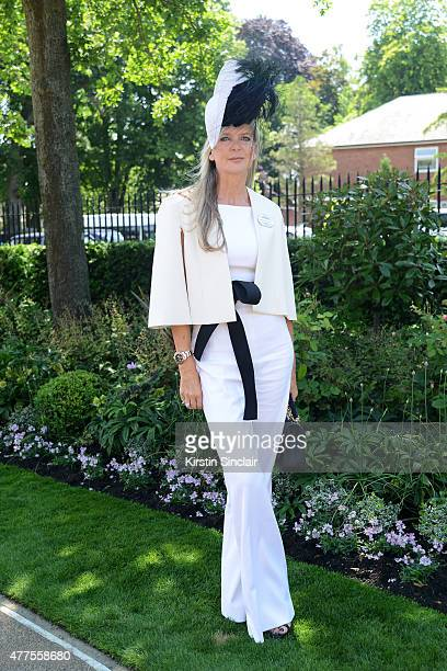 Fashion designer Amanda Wakeley attends Royal Ascot 2015 at Ascot racecourse on June 18 2015 in Ascot England