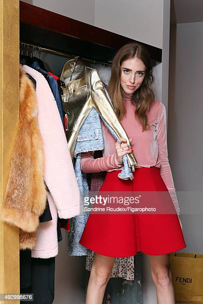 Fashion designer and blogger Chiara Ferragni is photographed for Madame Figaro on March 9 2015 in Paris France PUBLISHED IMAGE CREDIT MUST READ...