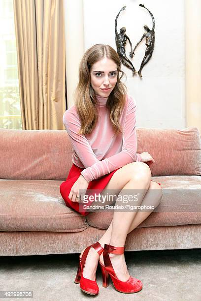 Fashion designer and blogger Chiara Ferragni is photographed for Madame Figaro on March 9 2015 in Paris France CREDIT MUST READ Sandrine...