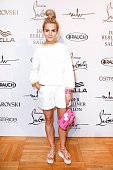 Fashion Designer and Blogger Maria Ilic attends the Marina Hoermanseder defilee during the Der Berliner Mode Salon Spring/Summer 2017 at...