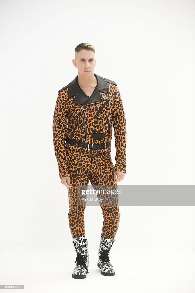 Fashion designer and Creative Director of Moschino <a gi-track='captionPersonalityLinkClicked' href=/galleries/search?phrase=Jeremy+Scott+-+Fashion+Designer&family=editorial&specificpeople=8682070 ng-click='$event.stopPropagation()'>Jeremy Scott</a> is photographed for Los Angeles Times on October 30, 2013 in Hollywood, California. PUBLISHED IMAGE.