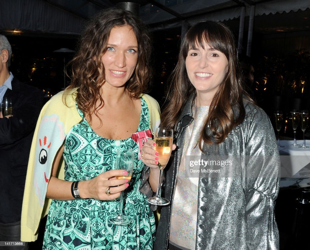 Fashion designer and founder of the Fashion East Initiative Lulu Kennedy and Tania Fares attend a tea party in celebration of Lulu's newly bestowed...