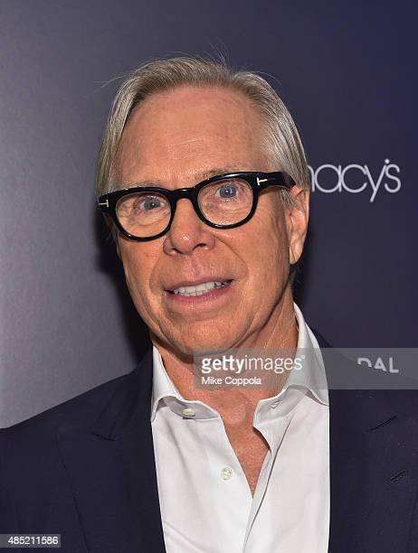 Fashion designer and founder of the lifestyle brand Tommy Hilfiger Corporation Tommy Hilfiger poses for a picture as he makes a personal appearance...