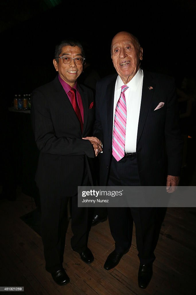 Fashion designer and honoree Tadashi Shoji and Honoree Arthur Imoeratore Sr. attend the 16th Annual Samuel Waxman Cancer Research Foundation Collaborating For A Cure Benefit Dinner & Auction at Park Avenue Armory on November 21, 2013 in New York City.