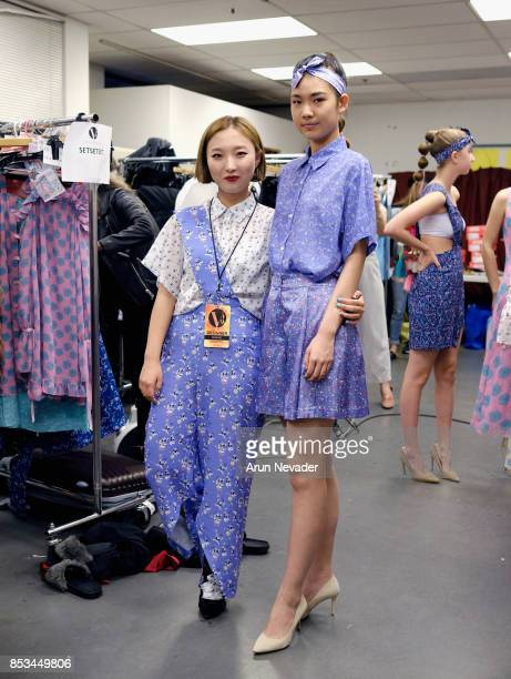 SETSETSET fashion designer and model backstage at 2017 Vancouver Fashion Week Day 7 on September 24 2017 in Vancouver Canada