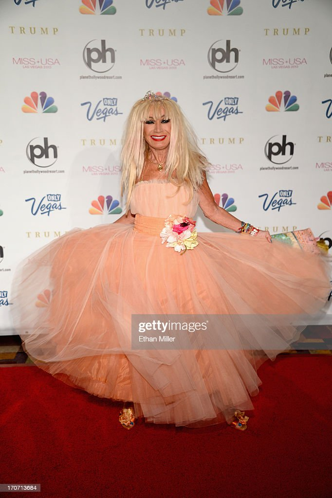Fashion designer and pageant judge Betsey Johnson arrives at the 2013 Miss USA pageant at Planet Hollywood Resort & Casino on June 16, 2013 in Las Vegas, Nevada.
