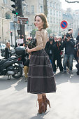 Fashion designer and Photographer Ulyana Sergeenko on day 9 of Paris Collections Women on March 11 2015 in Paris France