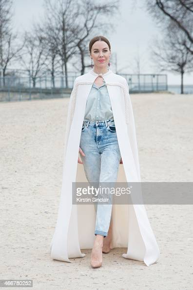 Fashion designer and Photographer Ulyana Sergeenko wears Christian Louboutin shoes on day 8 of Paris Collections Women on March 10 2015 in Paris...