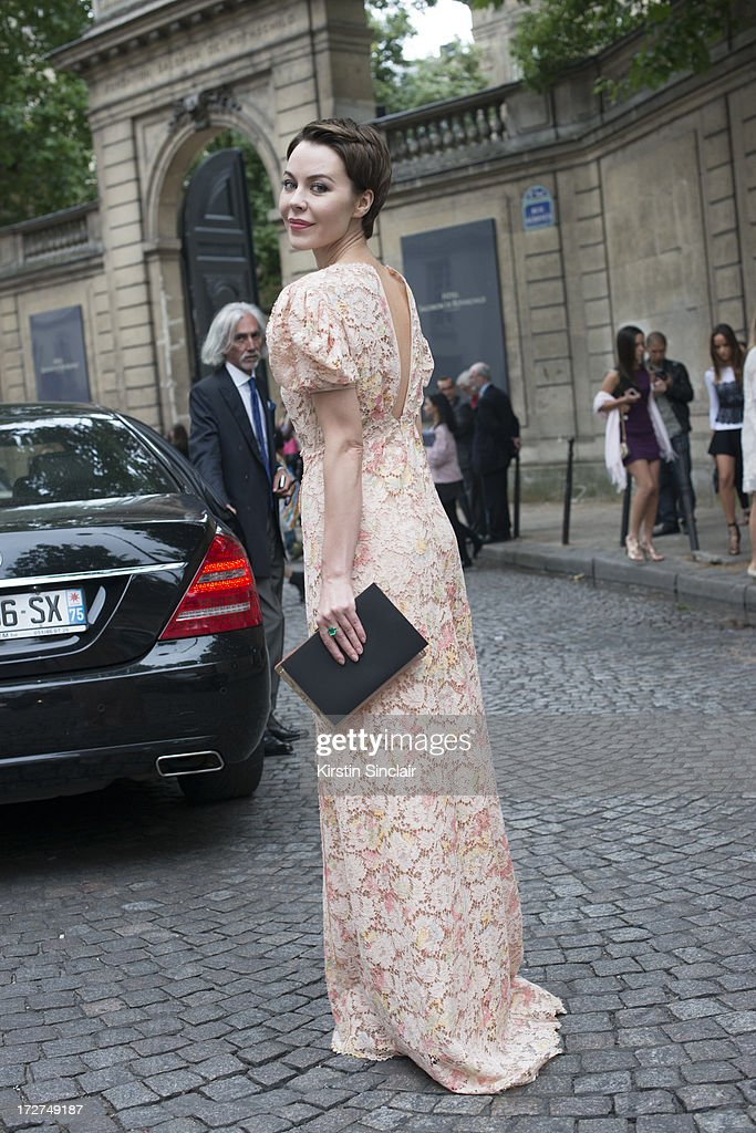 Fashion designer and photographer Ulyana Sergeenko wears Valentino on day 3 of Paris Collections: Womens Haute Couture on July 03, 2013 in Paris, France.