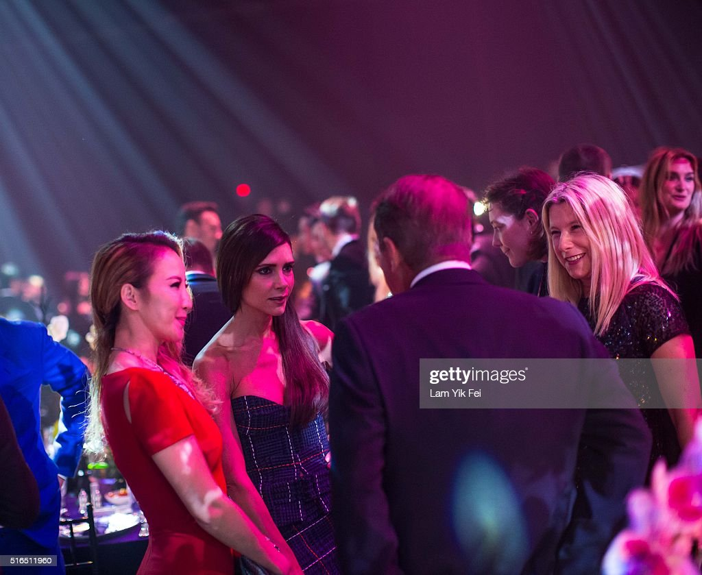 Fashion designer and Singer Victoria Beckham attends the Gala Dinner as part of the amfAR Hong Kong Gala 2016 at Shaw Studios on March 19 2016 in...
