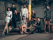 Fashion designer and the creative director of Balmain Olivier Rousteing is photographed with Kim Kardashian Kylie Jenner Kris Jenner Kanye West Cindy...