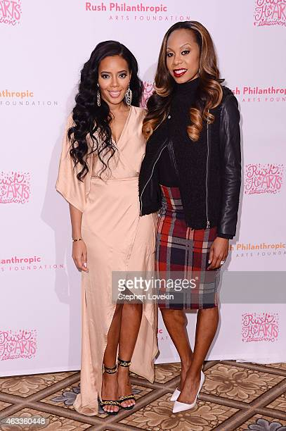 Fashion designer Angela Simmons and Olympic Track and Field athlete Sanya Richards Ross attend Russell Simmons' Rush Philanthropic Arts Foundation's...